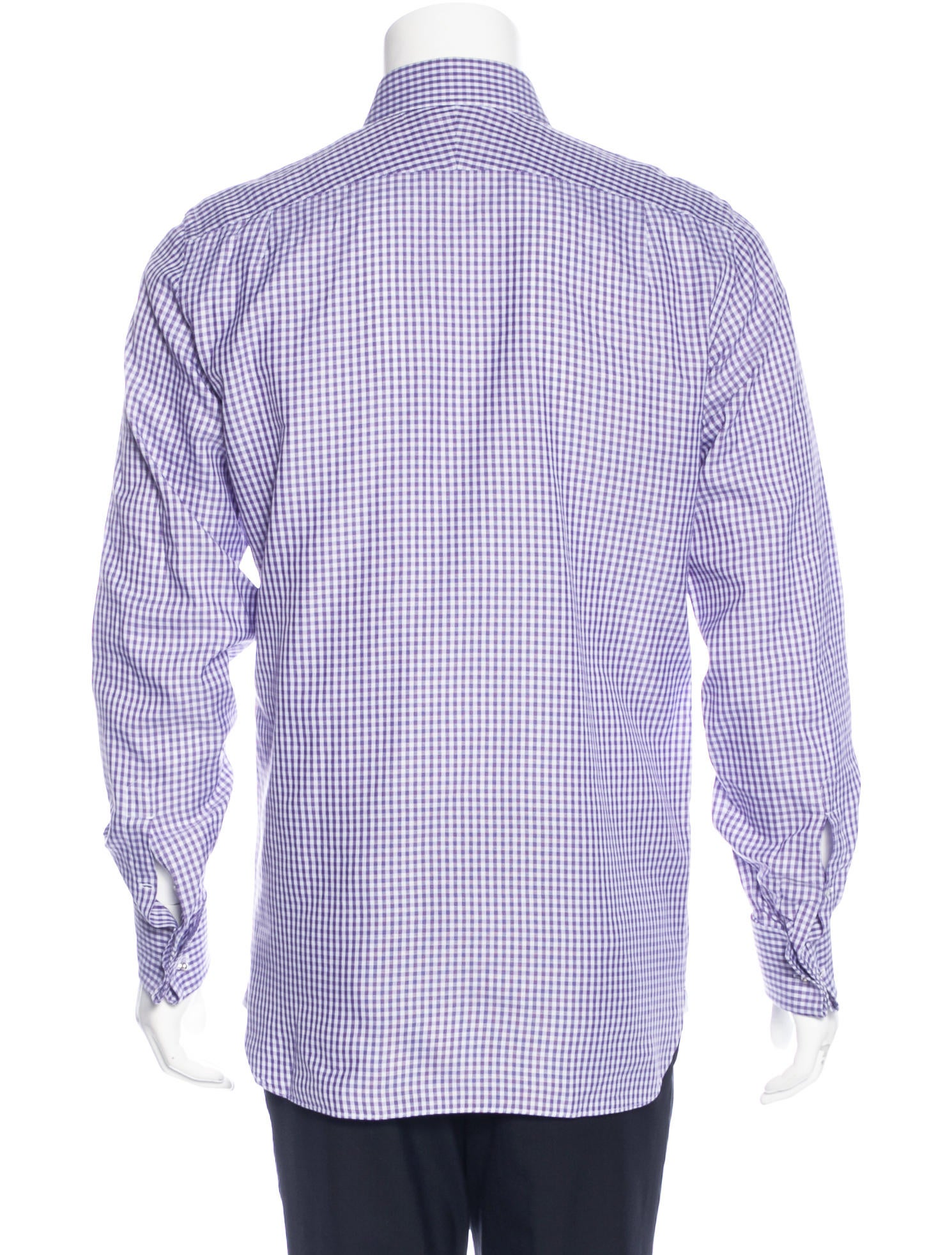 tom ford gingham french cuff shirt clothing tom35155
