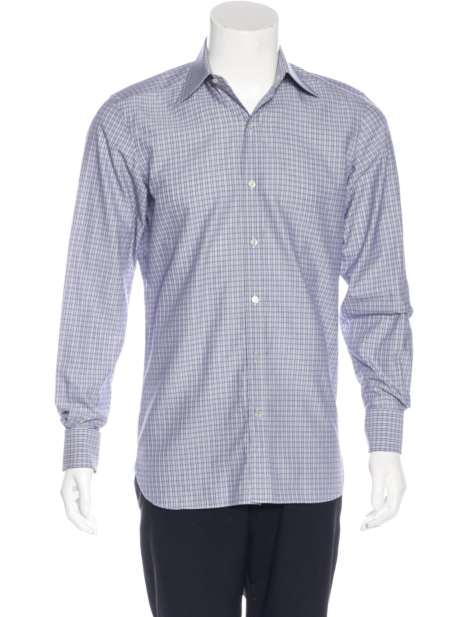 tom ford plaid french cuff shirt clothing tom35157
