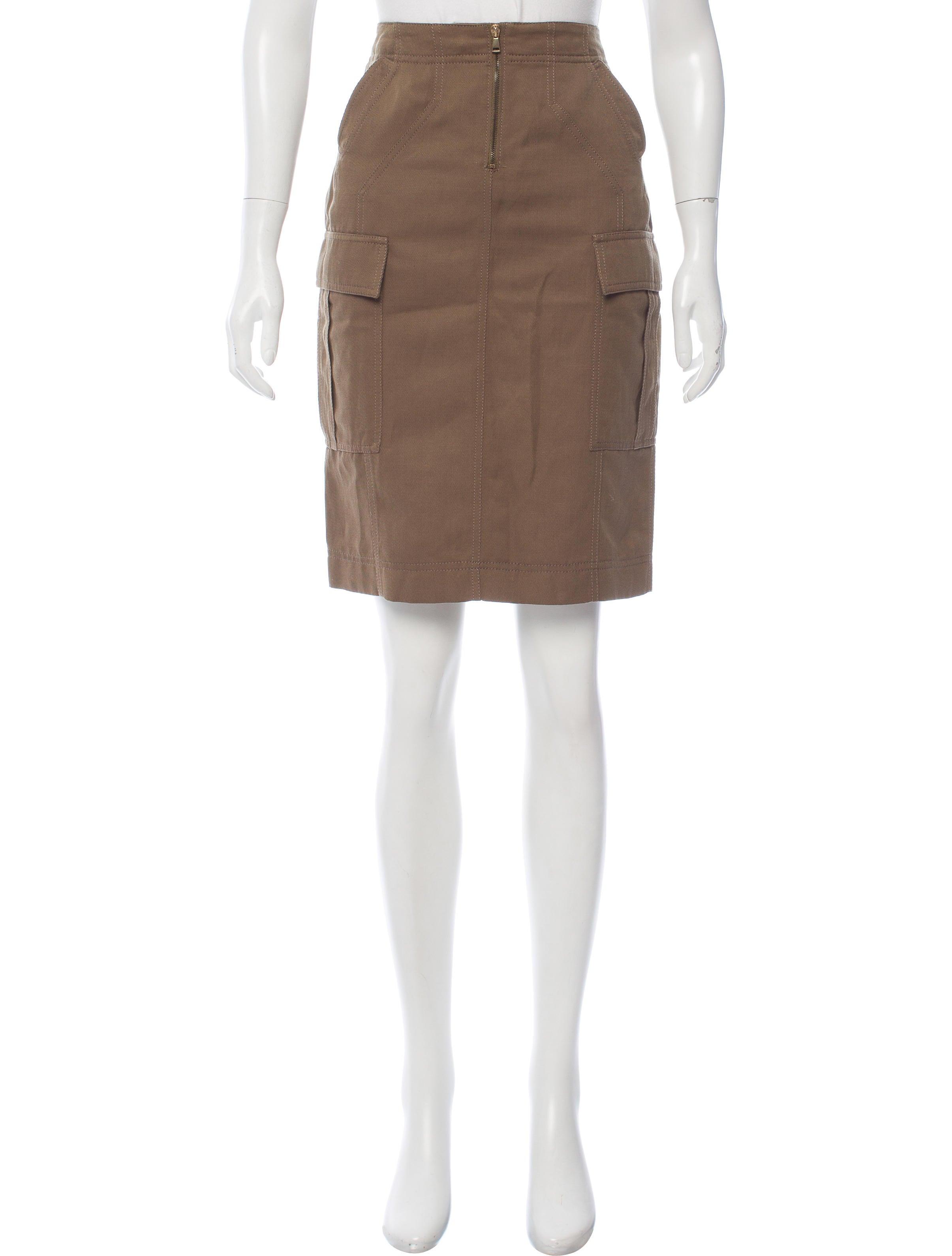 tom ford knee length cargo skirt clothing tom35192