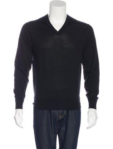 Tom Ford Cashmere-Blend V-Neck Sweater None