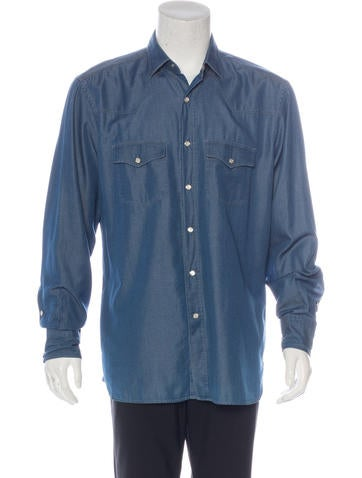Tom ford chambray western shirt clothing tom35535 for Chambre western