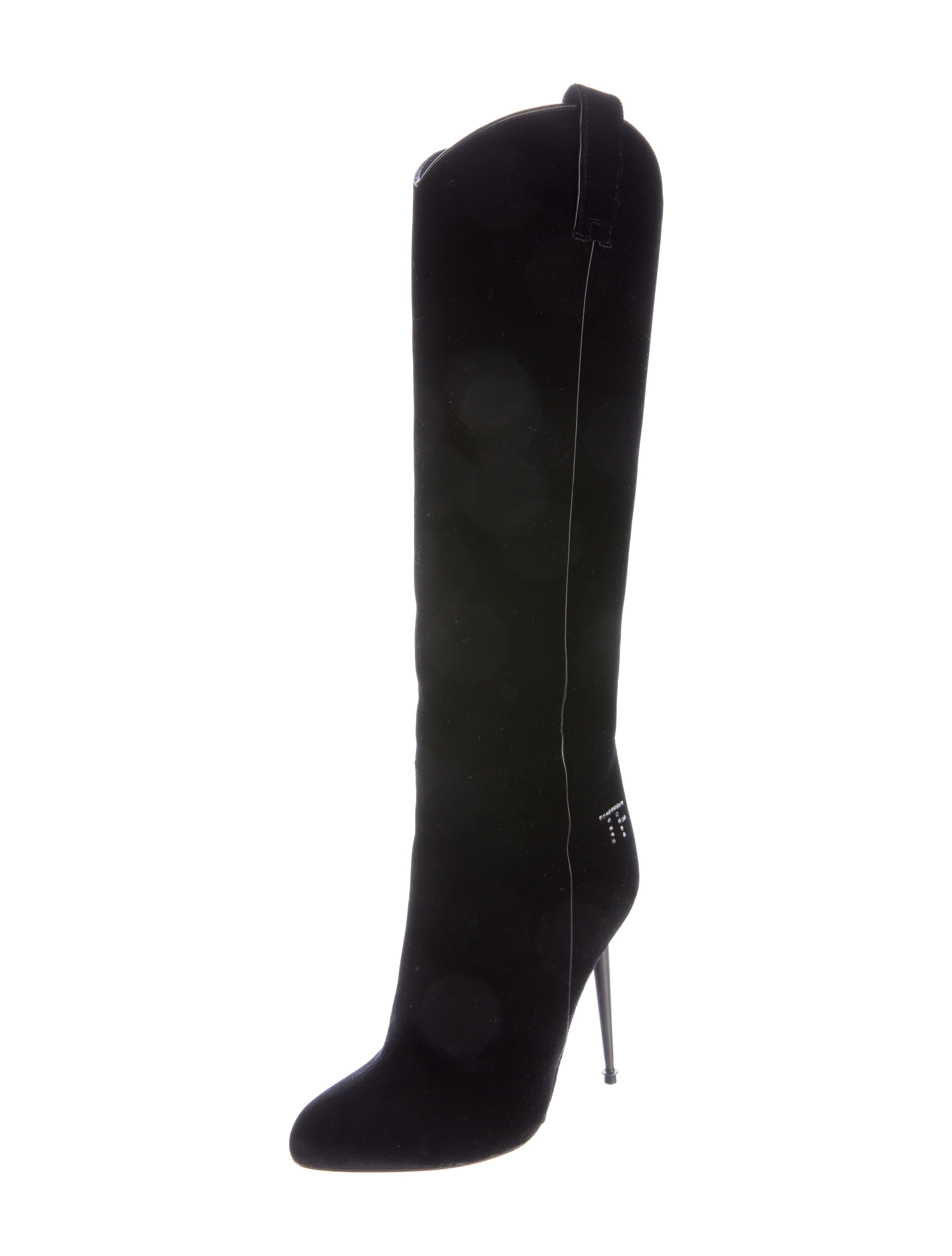 tom ford velvet knee high boots shoes tom35546 the