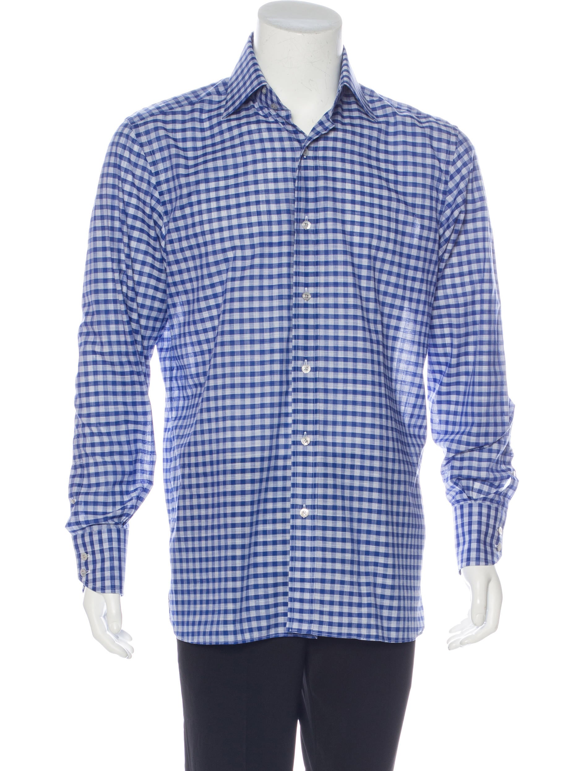 Tom ford gingham dress shirt w tags clothing tom35642 for Gingham dress shirt men