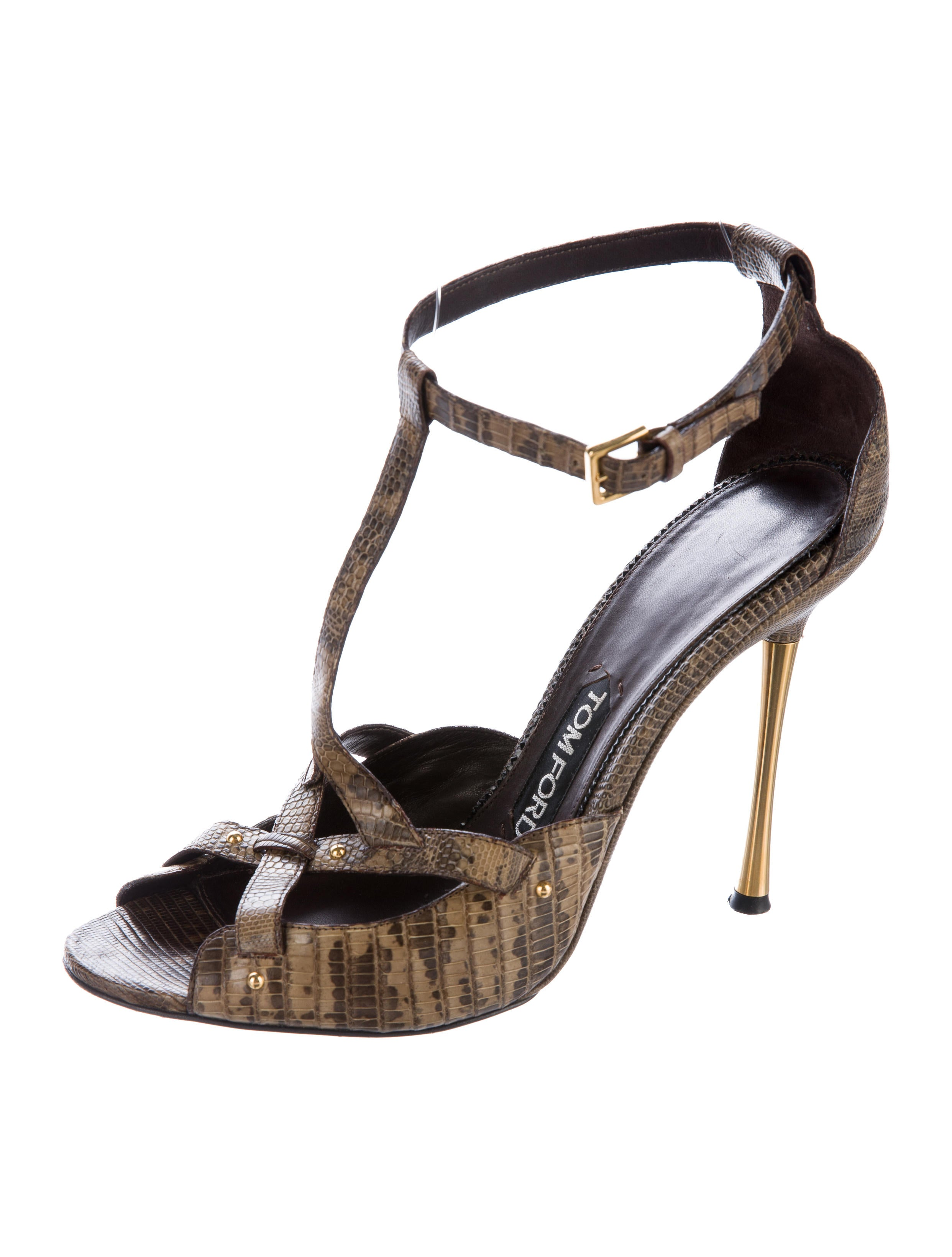 high quality cheap price clearance deals Tom Ford Lizard T-Strap Sandals VE7LNqtey