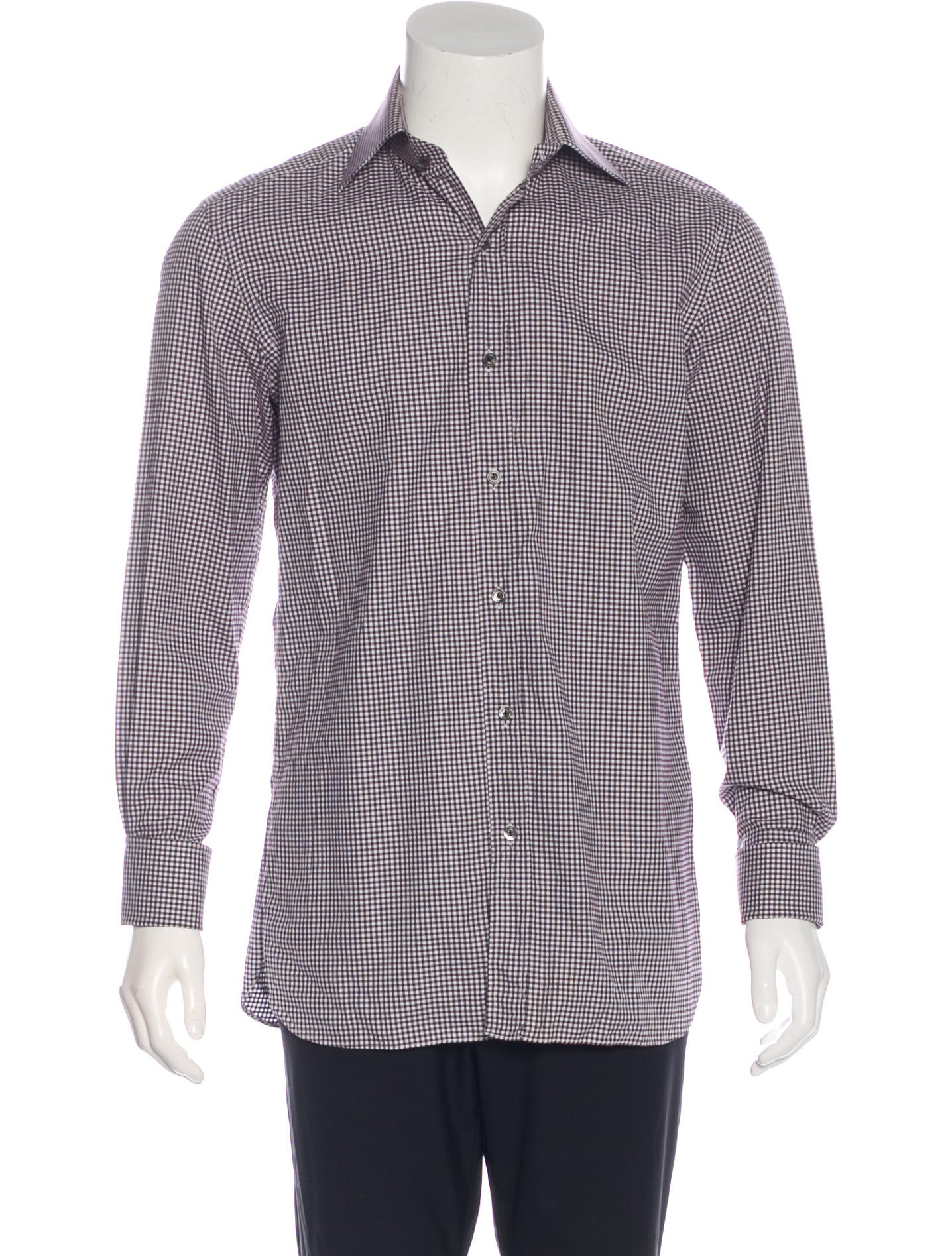 Tom ford gingham french cuff shirt clothing tom35803 for What is a french cuff shirt