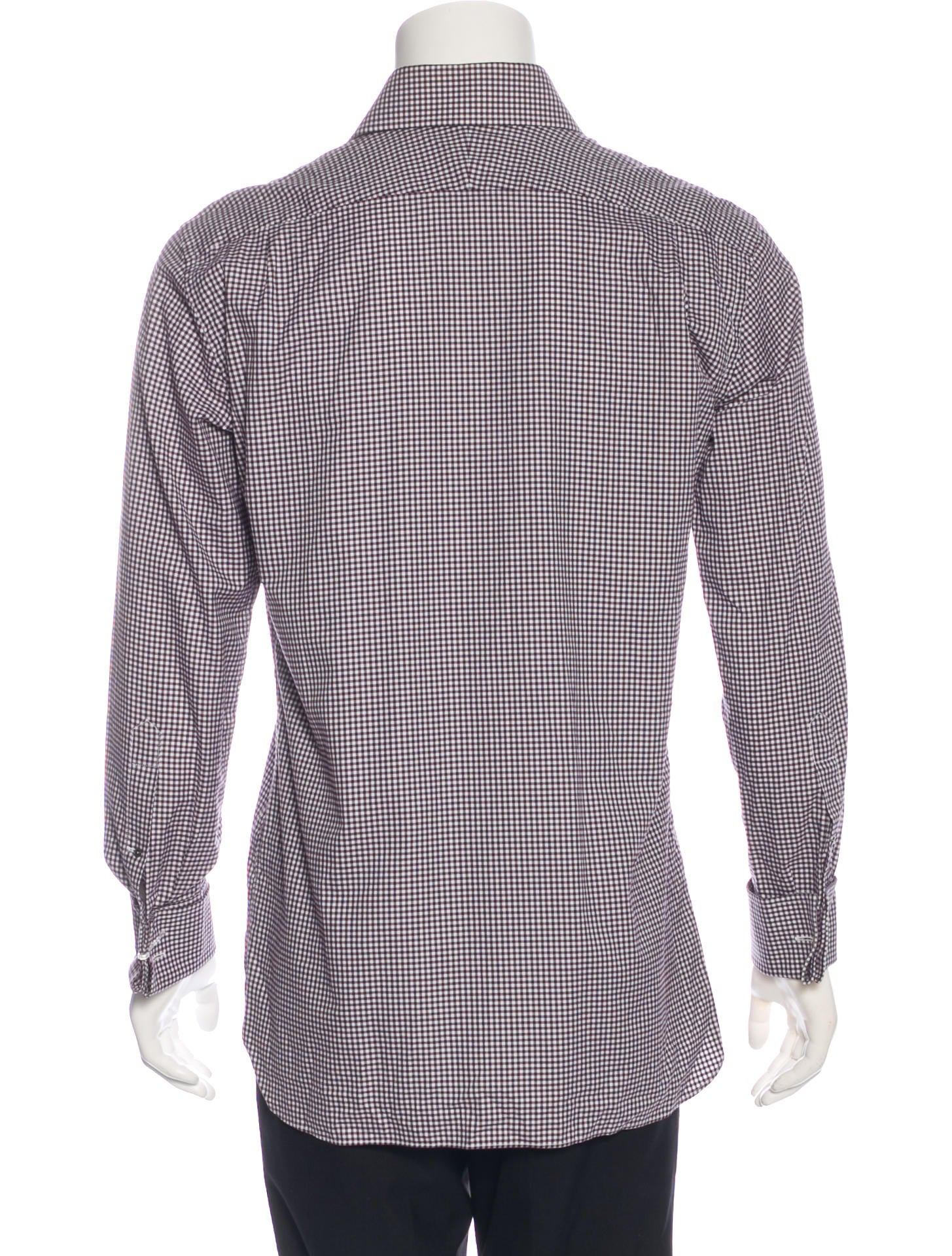 tom ford gingham french cuff shirt clothing tom35803
