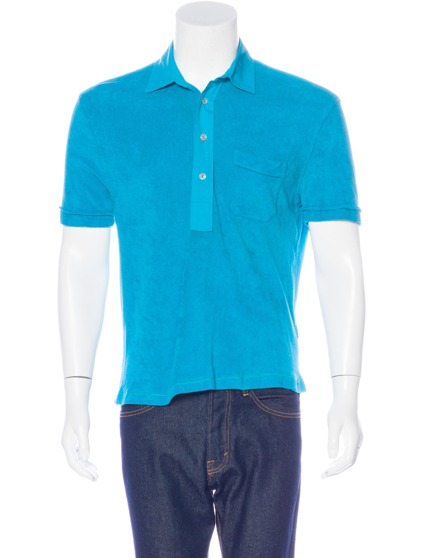 Tom ford terry cloth polo shirt clothing tom35896 for Terry cloth polo shirt