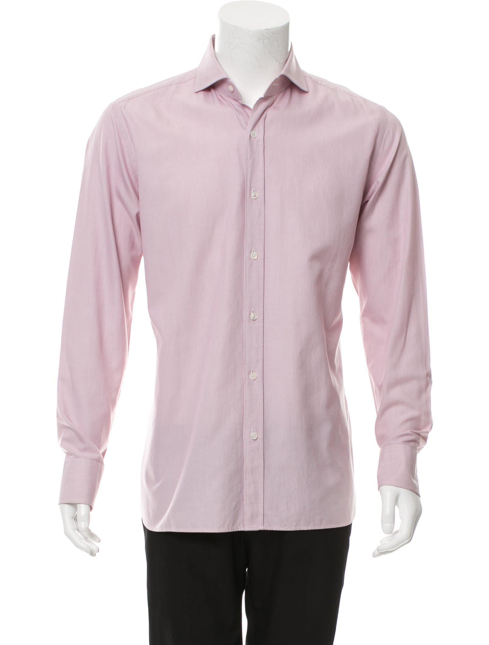 Tom ford striped button up shirt clothing tom36269 for Striped button up shirt mens