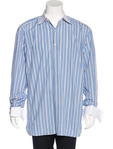 tom ford striped french cuff shirt clothing tom36469. Black Bedroom Furniture Sets. Home Design Ideas