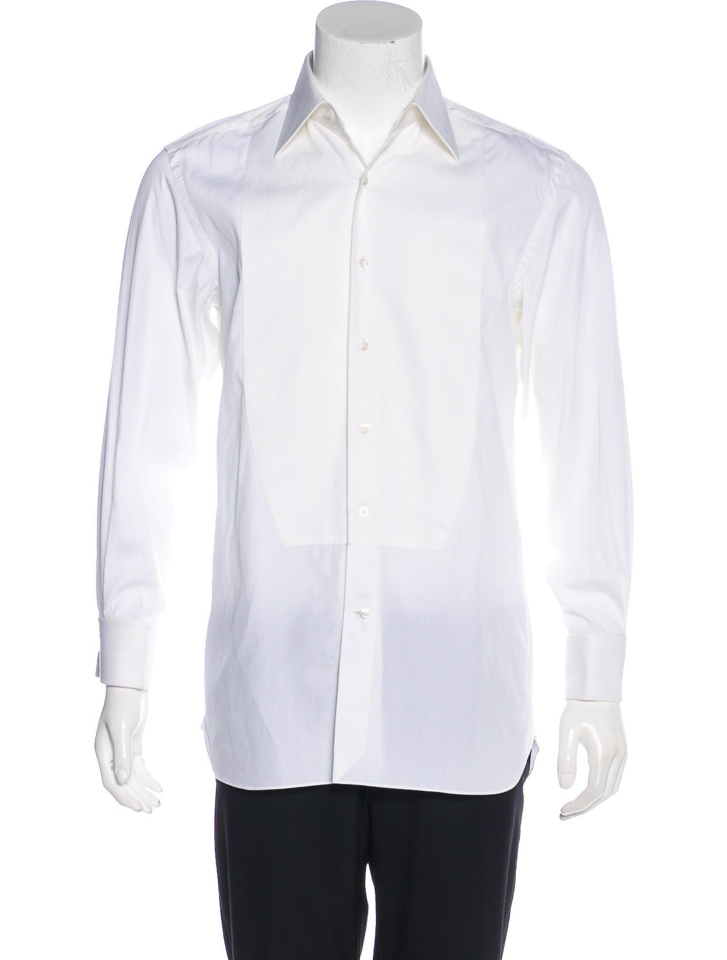 Tom ford french cuff tuxedo shirt clothing tom36632 for Tuxedo shirt french cuff