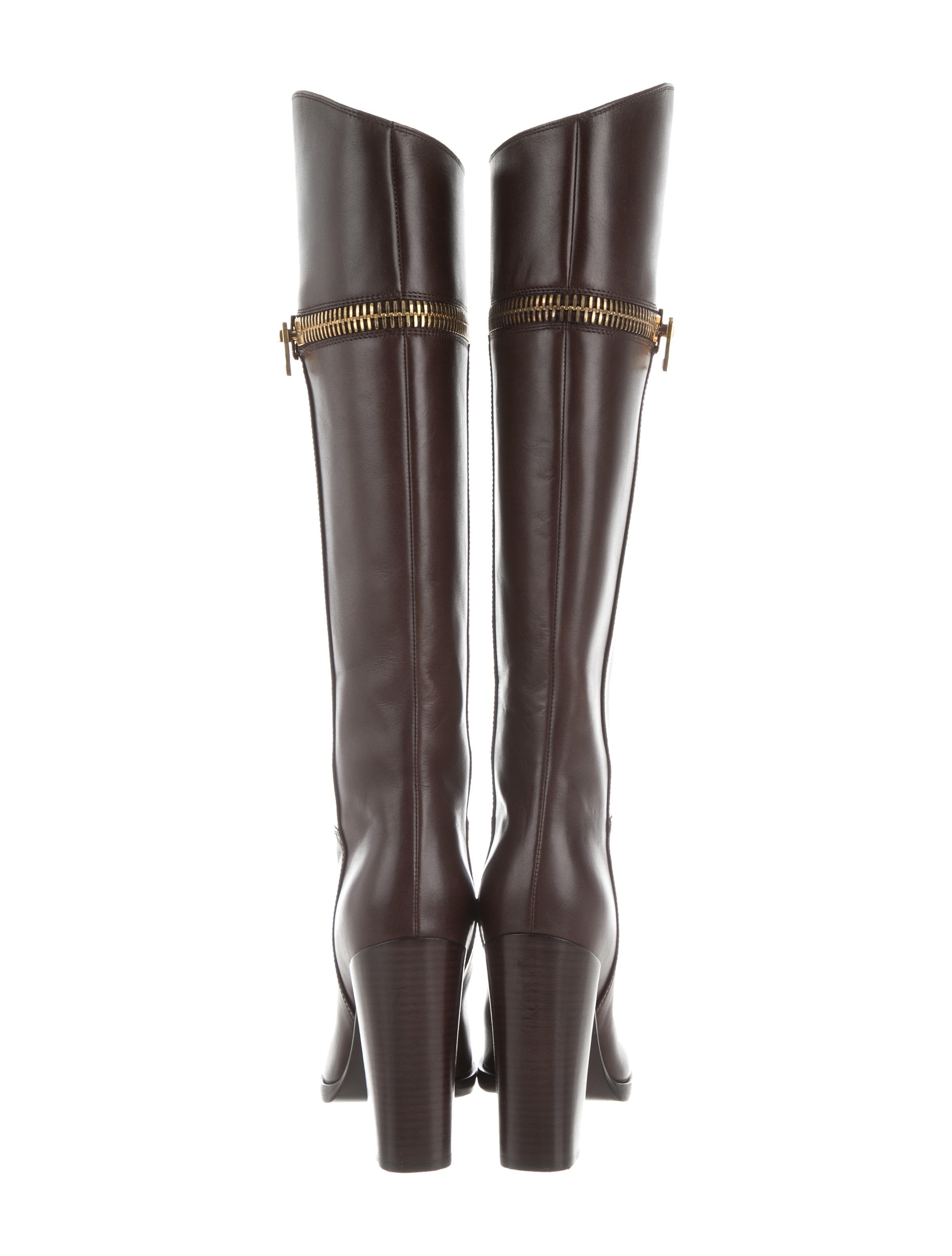 tom ford leather zip boots shoes tom36717 the realreal