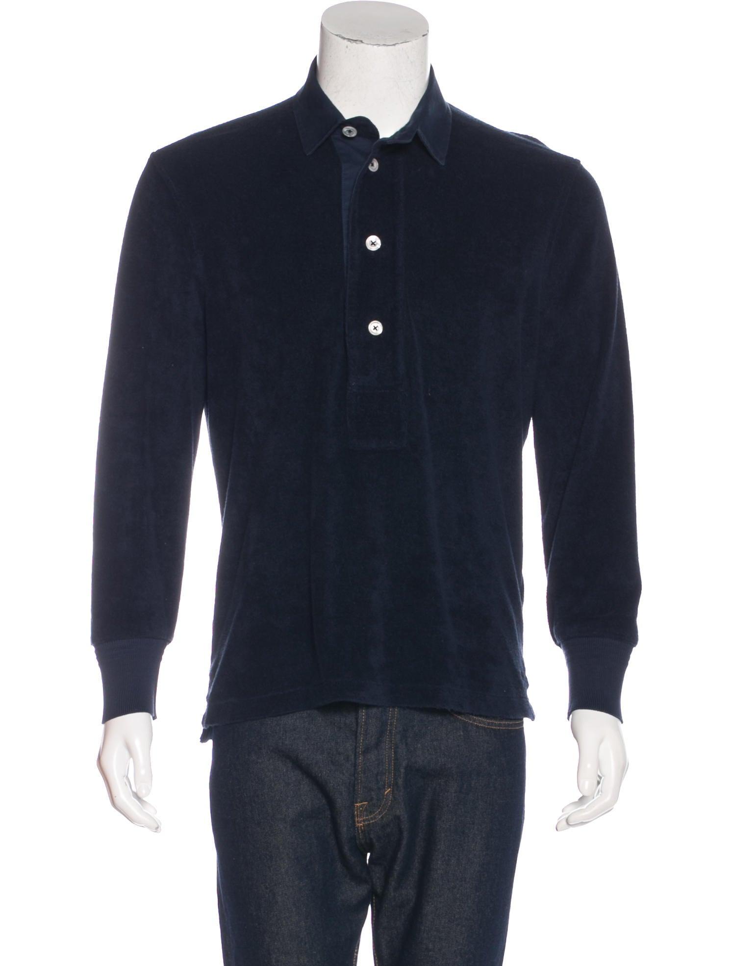 Tom ford terry cloth polo shirt clothing tom36786 for Terry cloth polo shirt