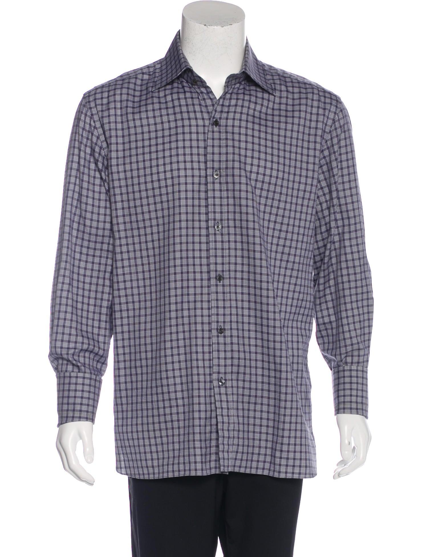tom ford plaid french cuff shirt clothing tom36788