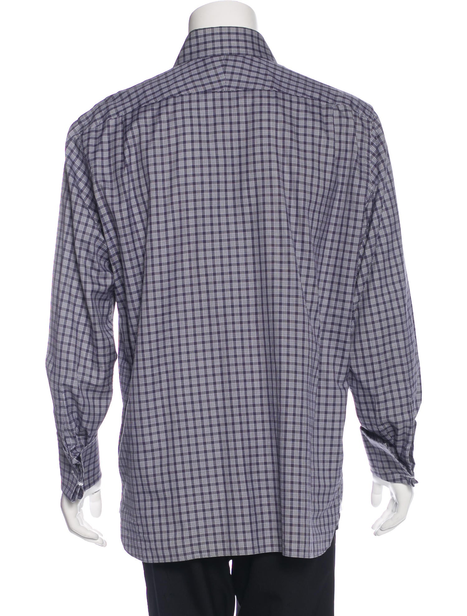 Tom ford plaid french cuff shirt clothing tom36788 for What is a french cuff shirt