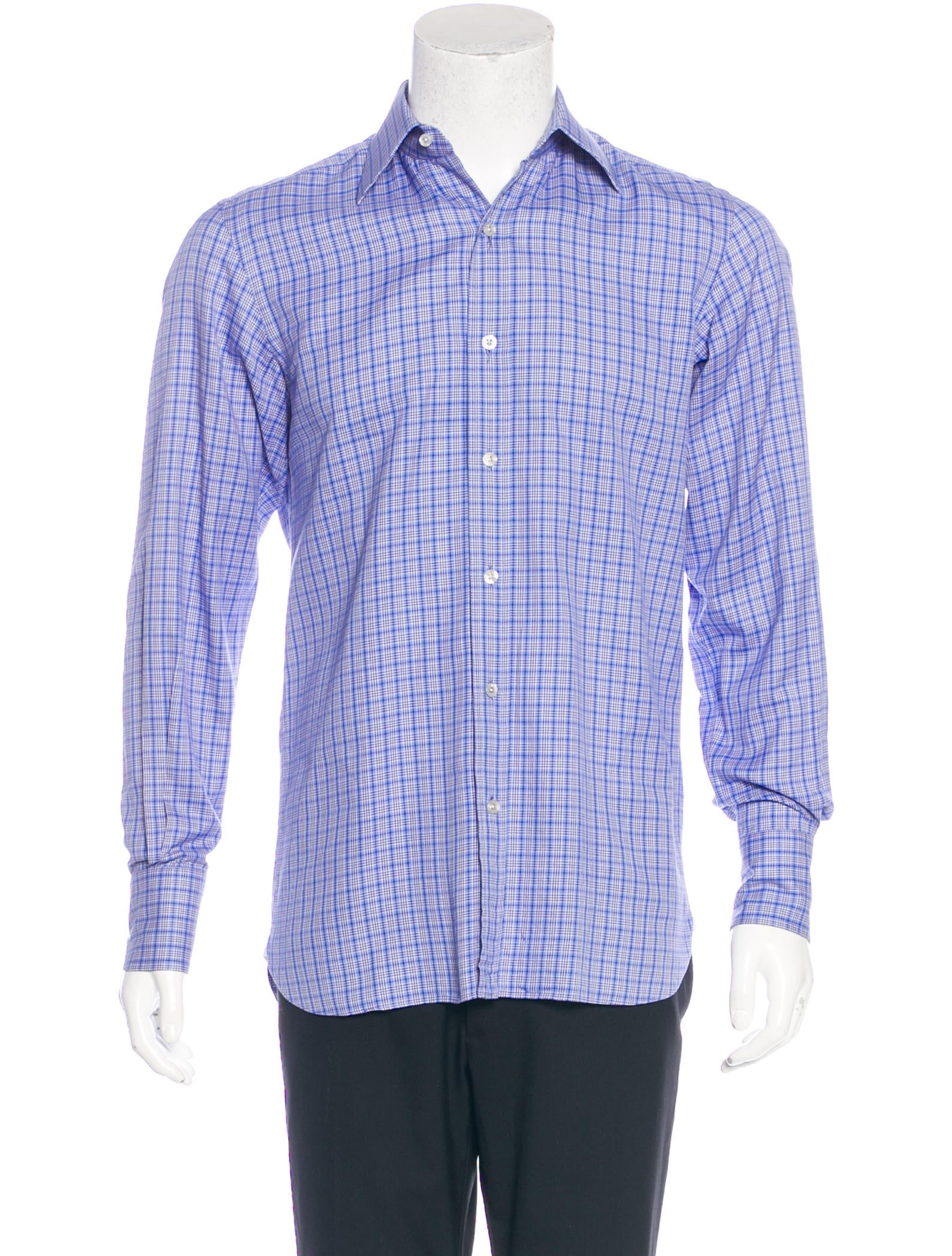 Tom ford plaid button up shirt clothing tom37196 the for Baseball button up t shirt dress