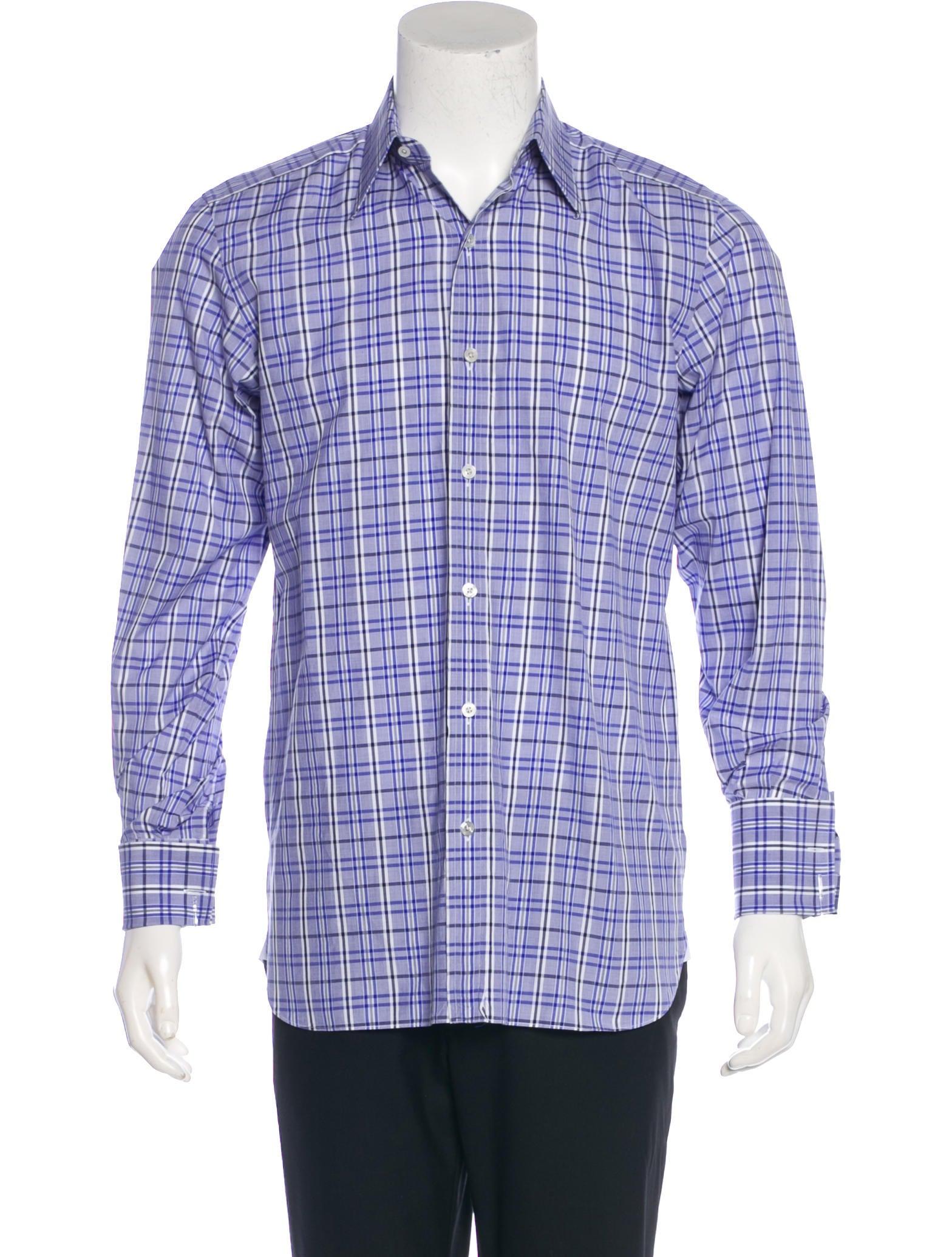Tom Ford Plaid French Cuff Shirt Clothing Tom37197