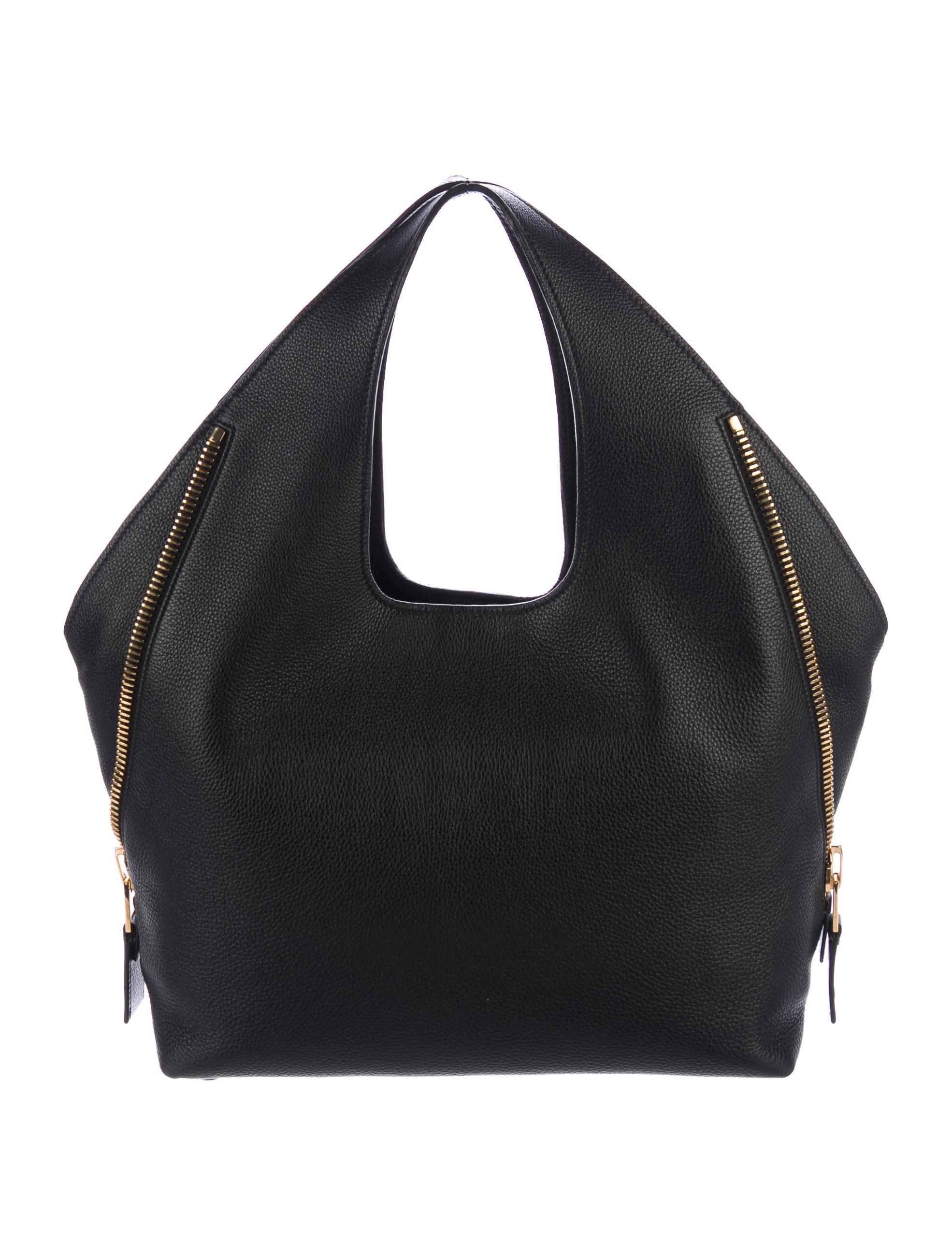 94cbbacae184d8 Tom Ford Jennifer Side-Zip Leather Hobo - Handbags - TOM37226   The ...