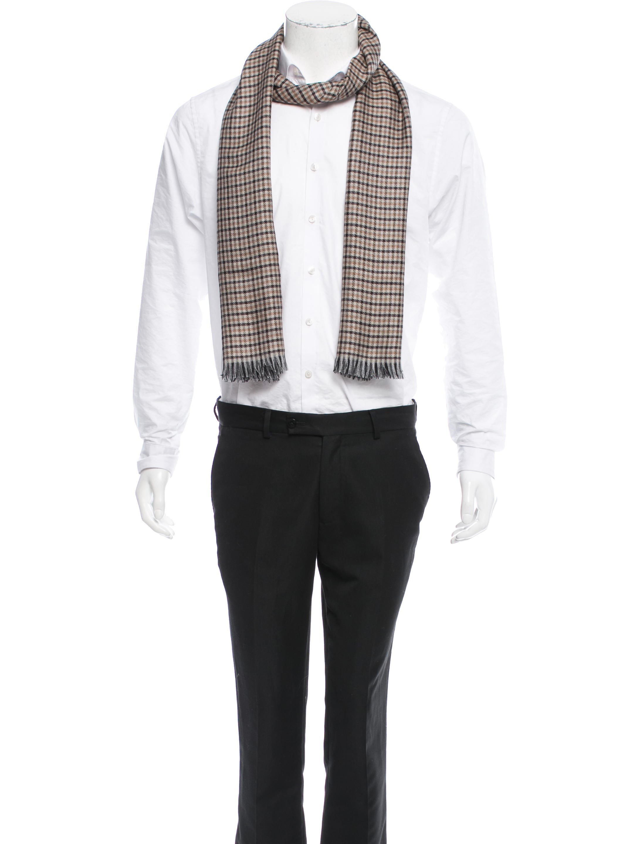 tom ford plaid scarf w tags accessories