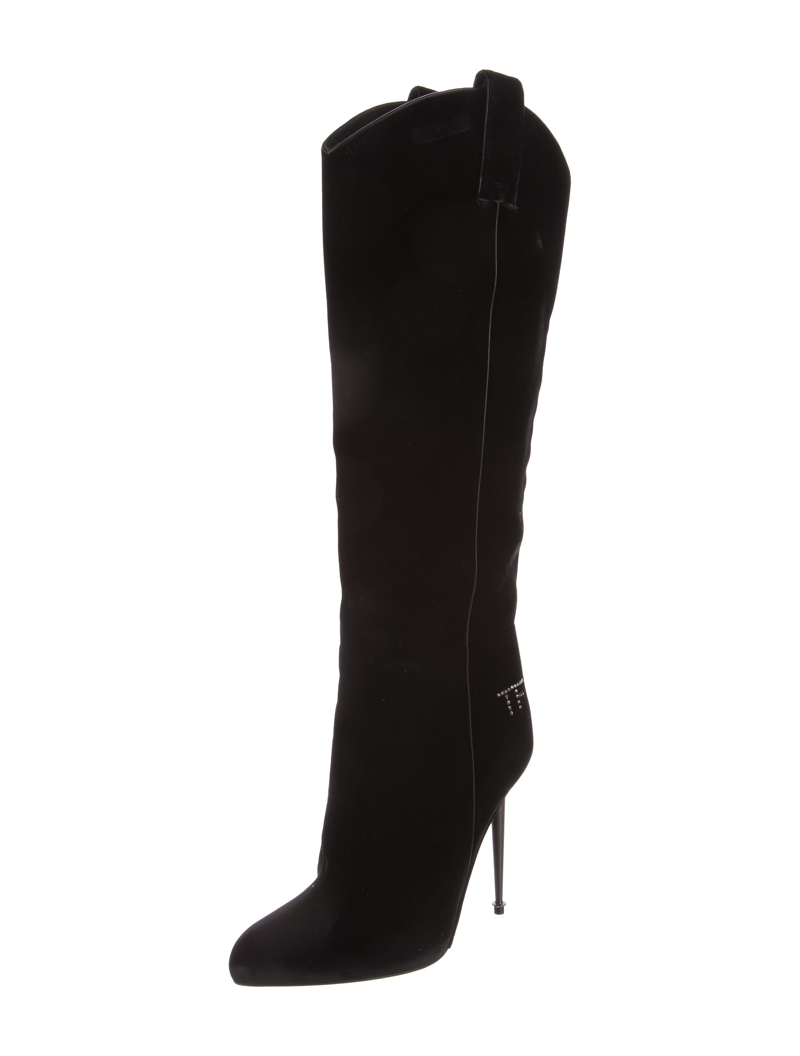 tom ford velvet knee high boots shoes tom37594 the