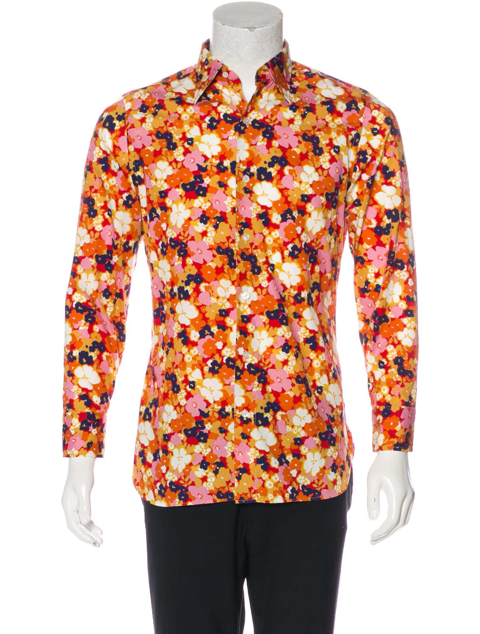how to wear a floral button up shirt
