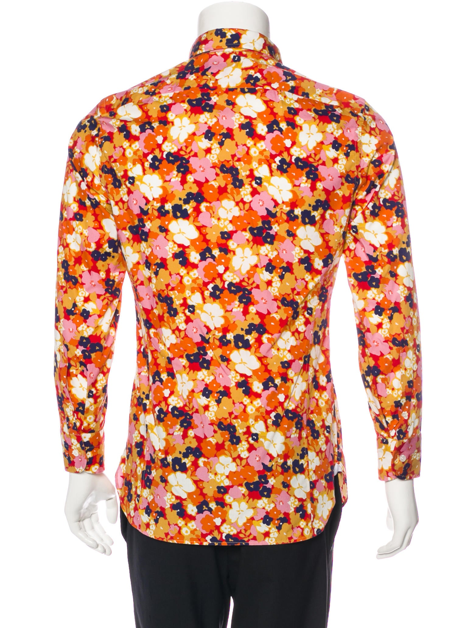 tom ford floral print button up shirt clothing