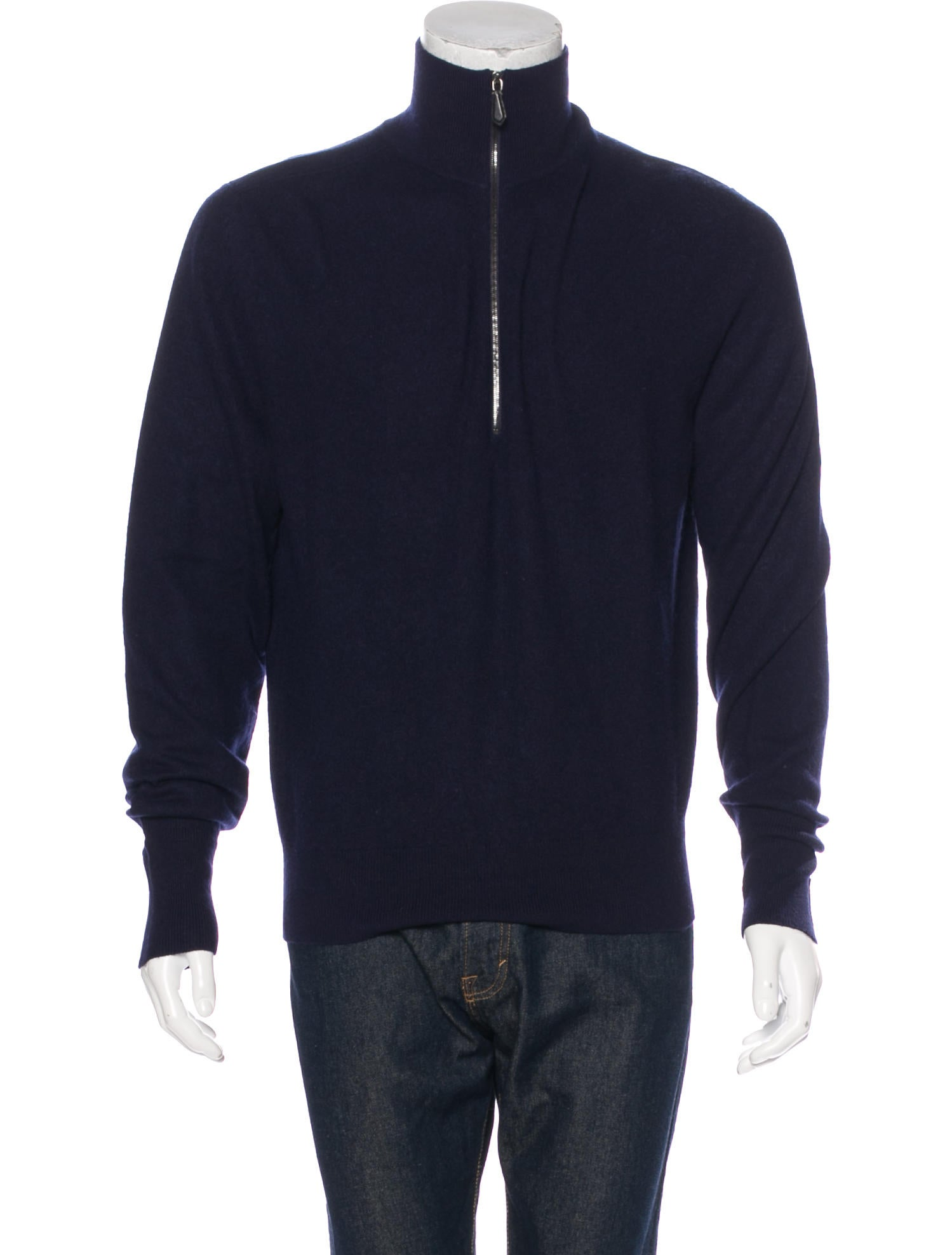 Tom Ford Cashmere Half-Zip Sweater - Clothing - TOM38312 | The RealReal