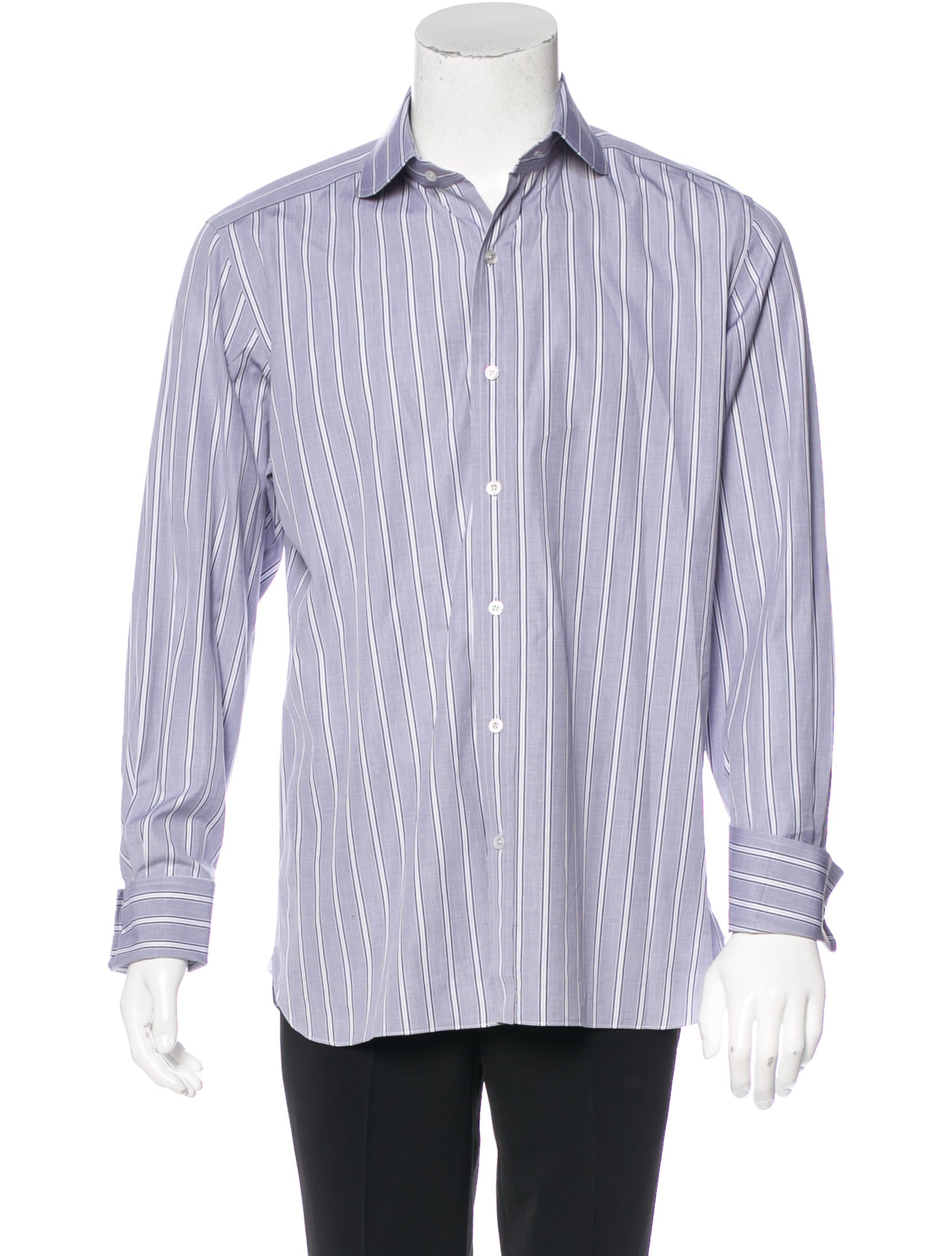 Tom Ford Striped French Cuff Dress Shirt Clothing