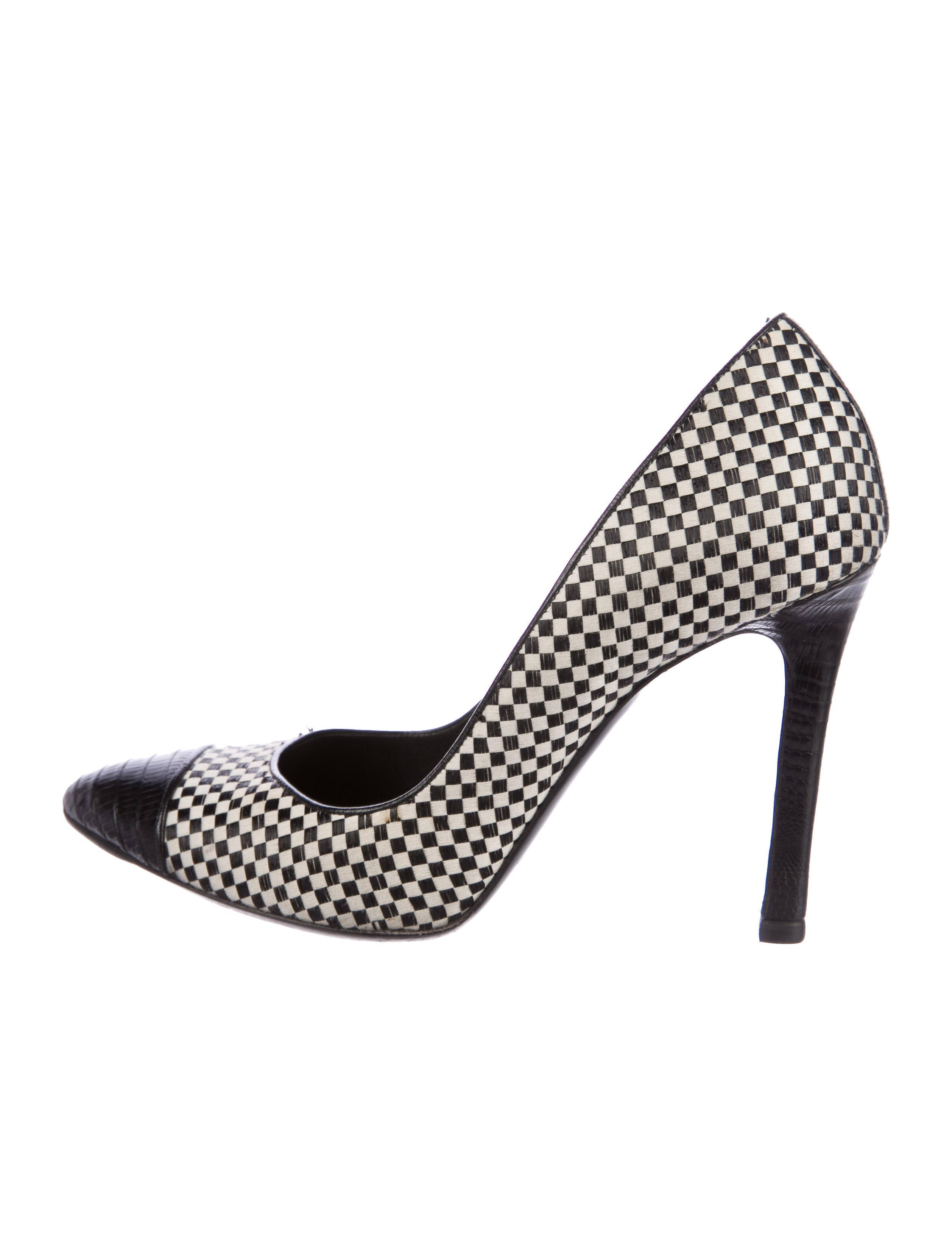 Tom Ford Lizard-Trimmed Cap-Toe Pumps get to buy for sale nrFA3fLxn