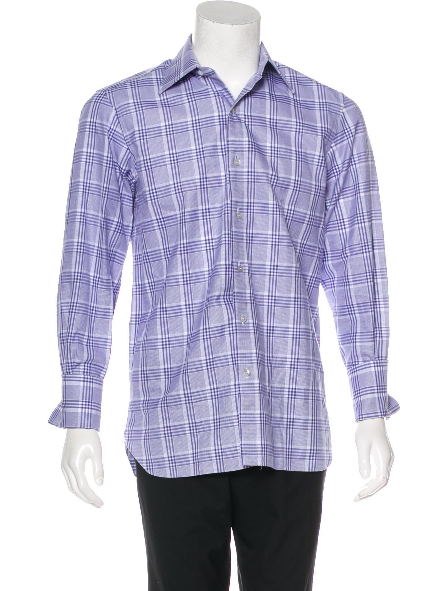 tom ford plaid french cuff shirts clothing tom40219
