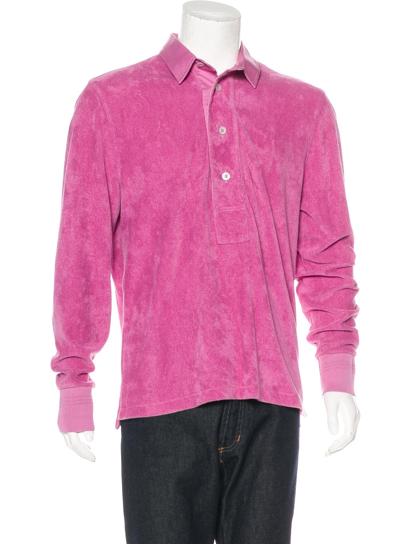 Tom ford terry cloth polo shirt clothing tom40314 for Terry cloth polo shirt