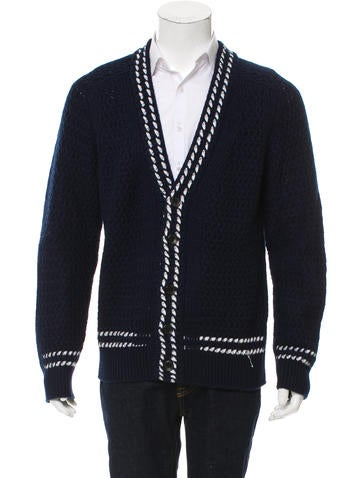 Tom Ford Cashmere Rib Knit Cardigan None