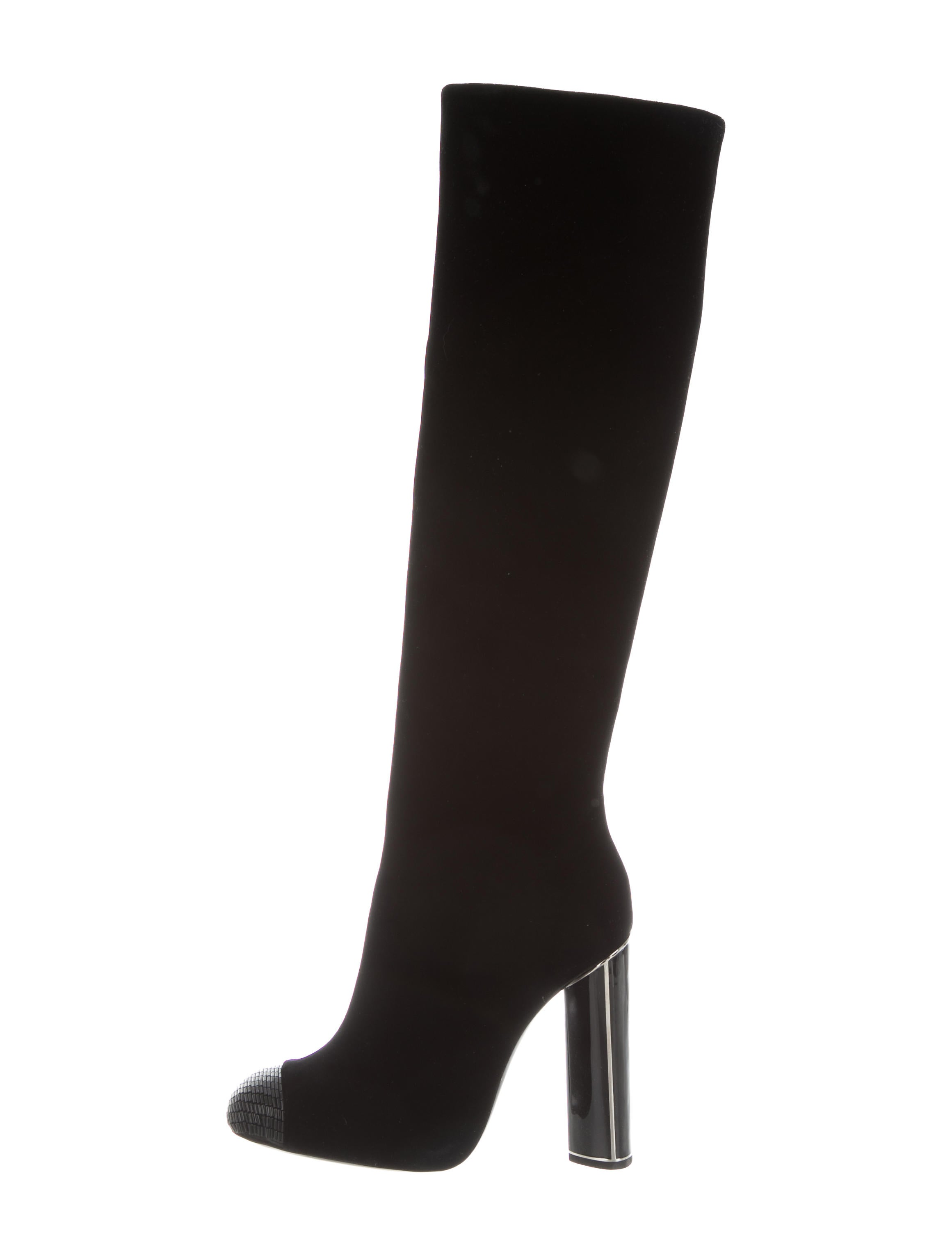 Tom Ford Velvet Knee-High Boots w/ Tags discount cheapest price discount best seller cheap clearance store outlet nicekicks RqoIof