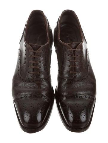 Cap-Toe Leather Oxfords
