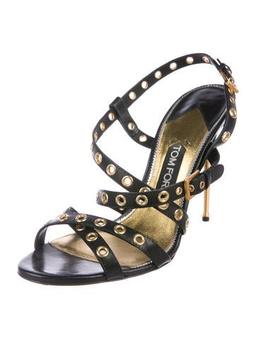 Tom Ford Grommet-Accented Leather Sandals cheap really comfortable cheap price cheap price buy discount outlet order online wOW7QW