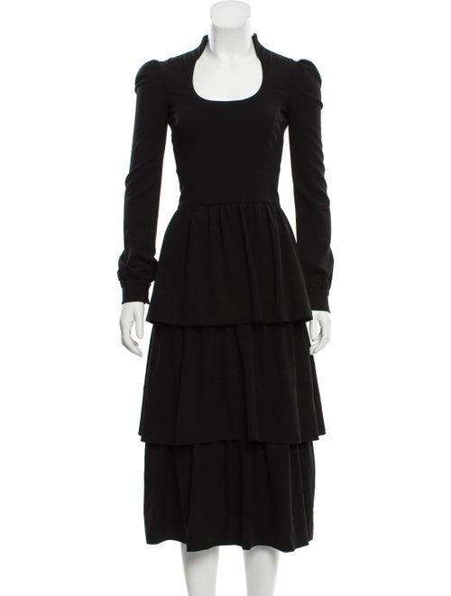 Tom Ford Wool Prairie Dress w/ Tags Black