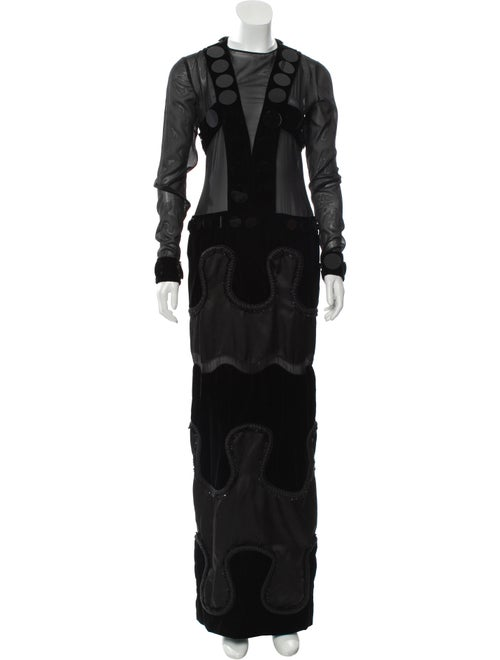 Tom Ford Velvet Evening Gown Black