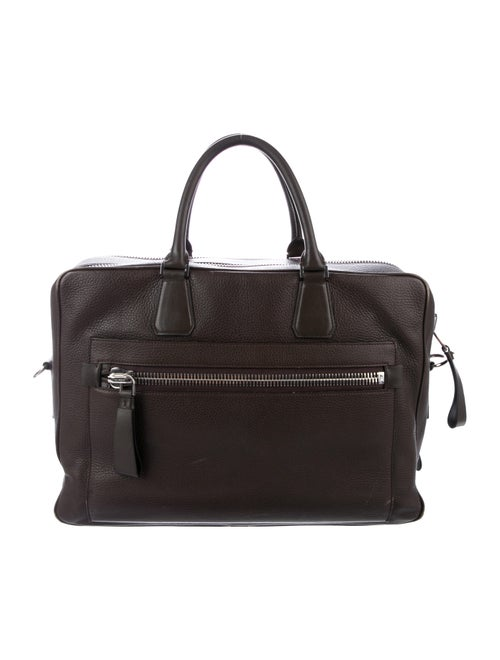 Tom Ford Buckley Side-Zip Briefcase brown