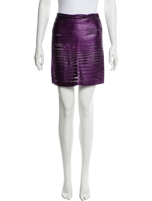 Tom Ford Tiered Mini Skirt Purple