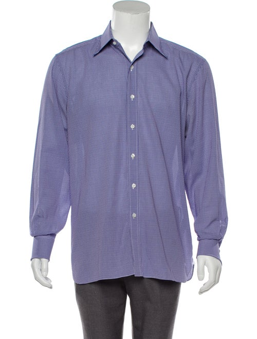 Tom Ford Gingham Dress Shirt blue