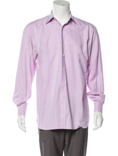 Tom Ford Gingham Dress Shirt pink