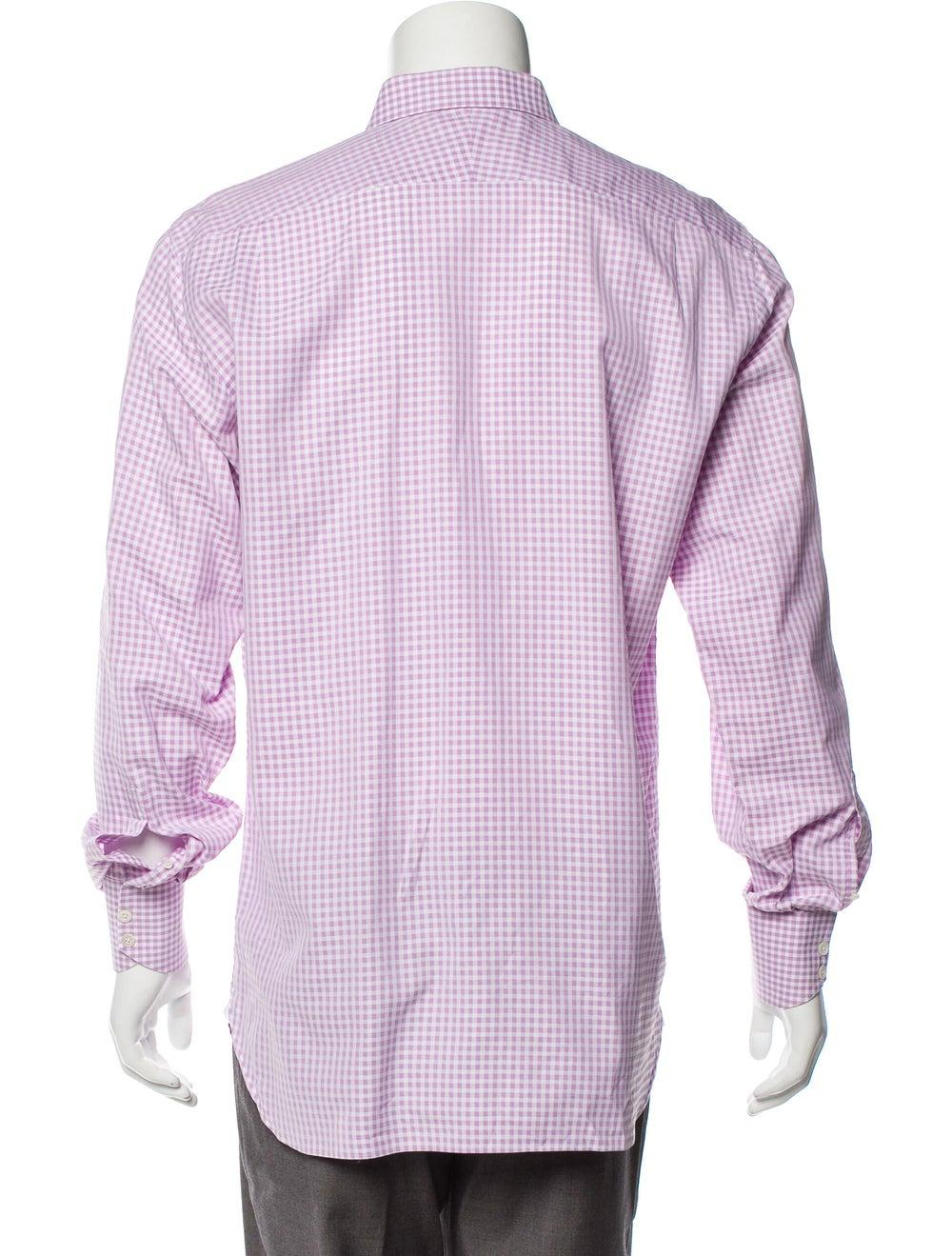 Tom Ford Gingham Dress Shirt pink - image 3