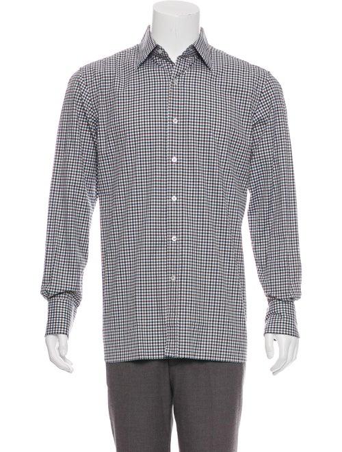 Tom Ford Gingham Dress Shirt w/ Tags white