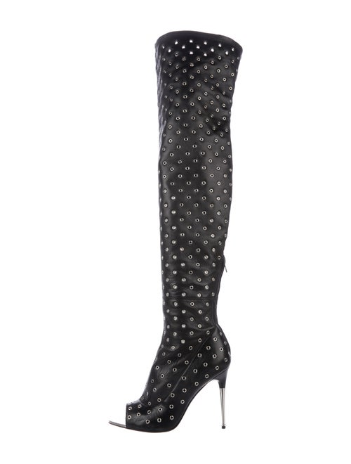 Tom Ford Grommet-Embellished Over-The-Knee Boots B