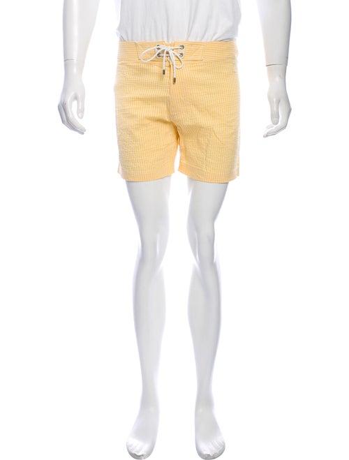 Tom Ford Striped Swim Trunks yellow