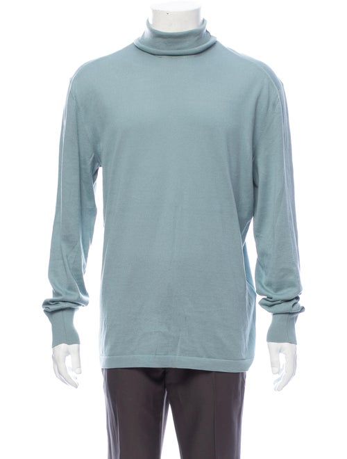 Tom Ford Turtleneck Long Sleeve Pullover Blue