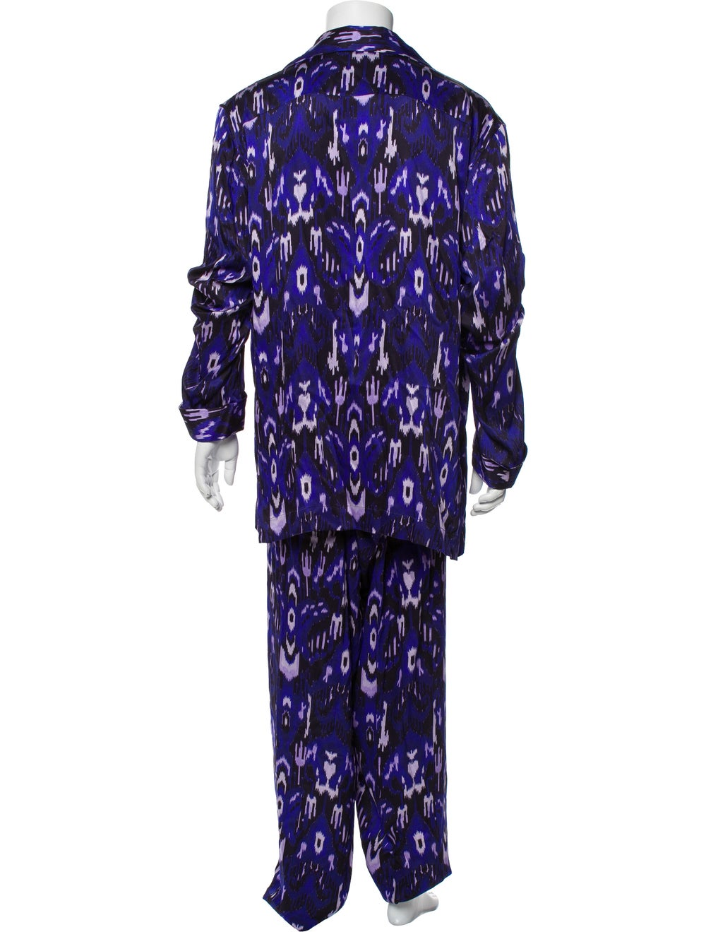 Tom Ford Silk Graphic Print Pajama Set Purple - image 3