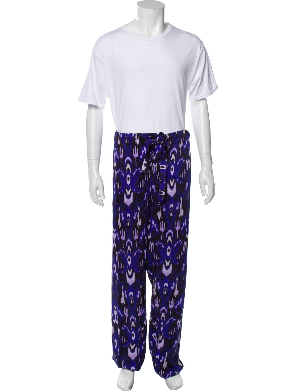 Tom Ford Silk Graphic Print Pajama Set Purple - image 4