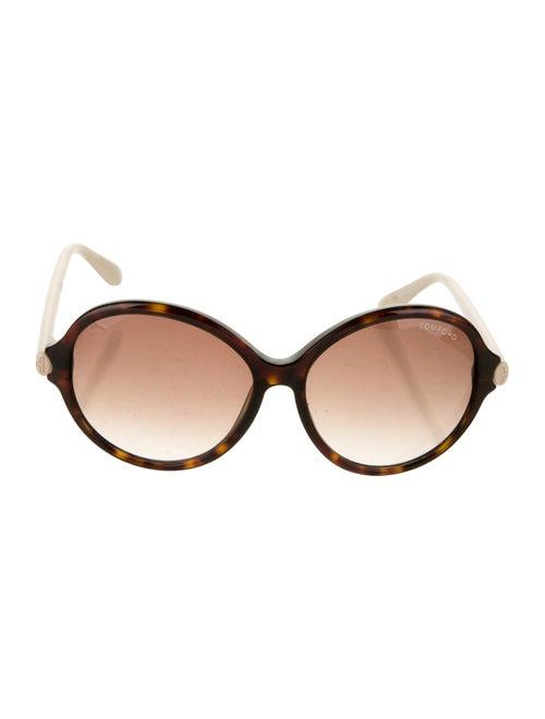 Tom Ford Tortoiseshell Round Sunglasses Brown
