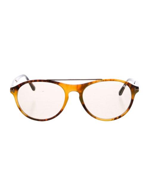 Tom Ford Cameron Round Sunglasses gold