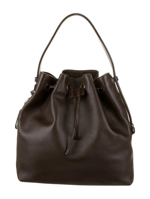 Tom Ford Leather Bucket Bag Brown